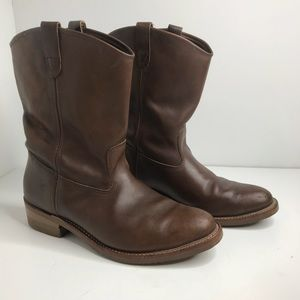 Double H Sz 18 Brown Leather Boots